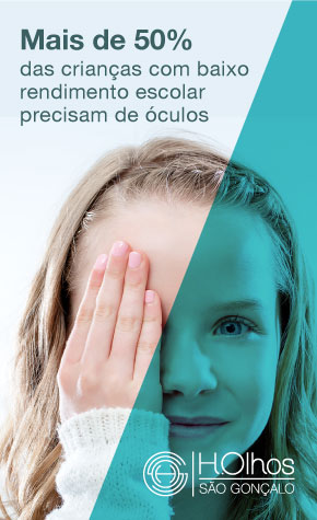 Mais de 50% das crianças precisam de óculos